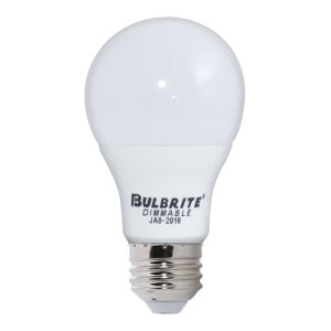 Frost A19, E26 3000K 9W LED Bulb, Pack of Four