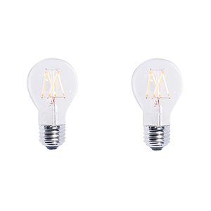 2 Pack 40W Equivalent A19 E26 2700K Dimmable LED Filament Warm White Clear Light Bulb