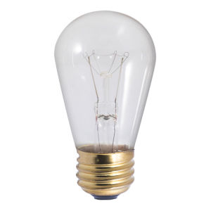 Clear Incandescent S14 Standard Base Warm White 75 Lumens Light Bulb