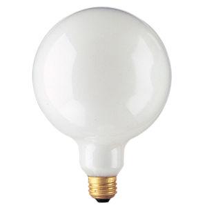 White Incandescent G40 Standard Base Warm White 150 Lumens Light Bulb
