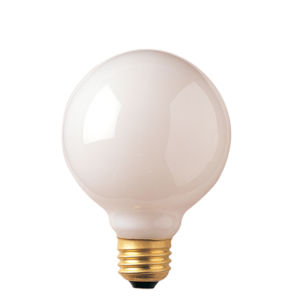 White Incandescent G25 Standard Base Warm White 225 Lumens Light Bulb