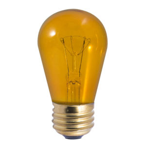 Transparent Amber Incandescent S14 Standard Base Lumens Light Bulb