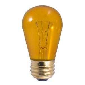 Transparent Amber S14, E26 K 11W Incandescent Bulb, Pack of 25