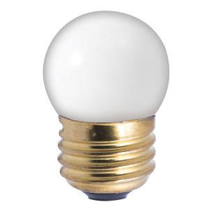 Ceramic White Incandescent S11 Standard Base Warm White 40 Lumens Light Bulb