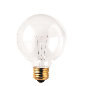 Clear Incandescent G25 Standard Base Warm White 255 Lumens Light Bulb