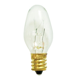 Clear C7, E12 2700K 4W Incandescent Bulb, Pack of 75
