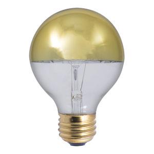 Half Gold Incandescent G25 Standard Base Warm White 310 Lumens Light Bulb
