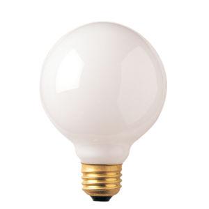 White G30, E26 2700K 25W Incandescent Bulb, Pack of 12