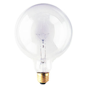 Clear G40, E26 2700K 150W Incandescent Bulb, Pack of 12