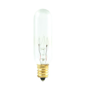 Clear T6, E12 2700K 15W Incandescent Bulb, Pack of 25