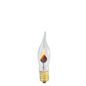 Clear CA5, E12 2700K 3W Incandescent Bulb, Pack of 14