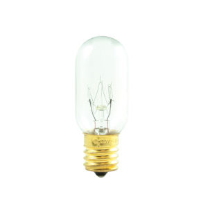 Clear T8, E17 2700K 25W Incandescent Bulb, Pack of 25