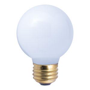 White G19, E26 2700K 25W Incandescent Bulb, Pack of 25