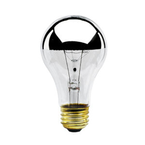 Half Chrome A19, E26 2700K 60W Incandescent Bulb, Pack of Eight