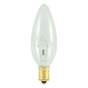 Clear B10, E14 2700K 60W Incandescent Bulb, Pack of 30