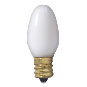 Clear C7, E12 2700K 7W Incandescent Bulb, Pack of 75