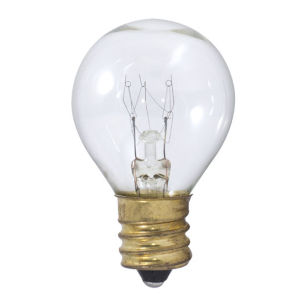 Clear S11, E17 2700K 10W Incandescent Bulb, Pack of 25