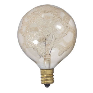 Amber Marble G16.5, E12 K 25W Incandescent Bulb, Pack of Six