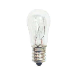 Clear Incandescent S6 Candelabra Base Warm White 10 Lumens Light Bulb