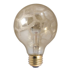 Amber Marble G25, E26 K 40W Incandescent Bulb, Pack of Six