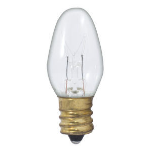 Clear C7, E12 2700K 5W Incandescent Bulb, Pack of 75