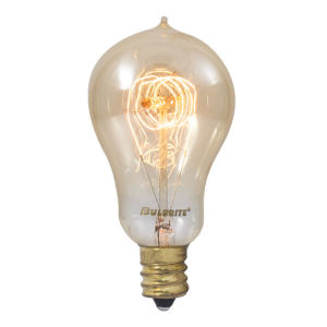 Antique A15, E12 2200K 25W Incandescent Bulb, Pack of Four