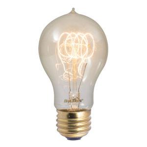 Antique A19, E26 2200K 25W Incandescent Bulb, Pack of Four