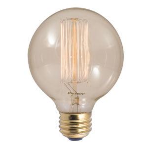 Antique Nostalgic Incandescent G30 Standard Base Amber 130 Lumens Light Bulb