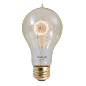 Antique A21, E26 2200K 40W Incandescent Bulb, Pack of Four