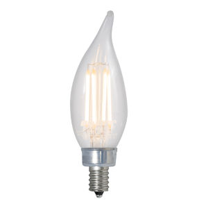 Clear CA10, E12 2700K 4.5W LED Bulb, Pack of Four