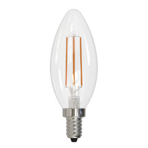 Clear LED Filament B11 40 Watt Equivalent Candelabra Base Soft White 350 Lumens Light Bulb