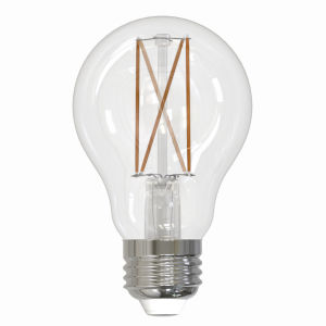 Clear A19, E26 3000K 7W LED Bulb, Pack of Two