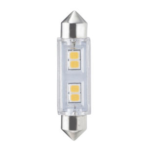 Clear T3, FEST 3000K 0.8W LED Bulb, Pack of Three