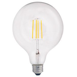 Clear LED Filament G40 60 Watt Equivalent Standard Base Warm White 800 Lumens Light Bulb