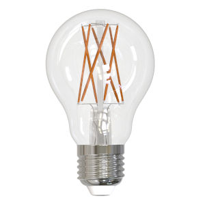 Clear LED Filament A19 75 Watt Equivalent Standard Base Soft White 1100 Lumens Light Bulb