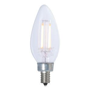 Clear LED Filament B11 40 Watt Equivalent Candelabra Base Soft White 300 Lumens Light Bulb, Pack of 4