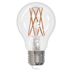 Clear LED Filament A19 60 Watt Equivalent Standard Base Warm White 800 Lumens Light Bulb