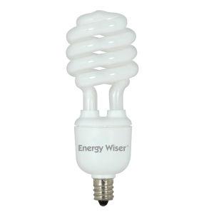 Frost CFL T2 COIL 60 Watt Equivalent Candelabra Base Warm White 900 Lumens Light Bulb - 4 Pack
