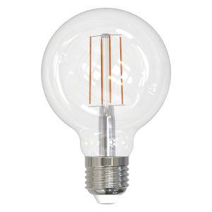 Clear LED Filament G25 60 Watt Equivalent Standard Base Soft White 800 Lumens Light Bulb