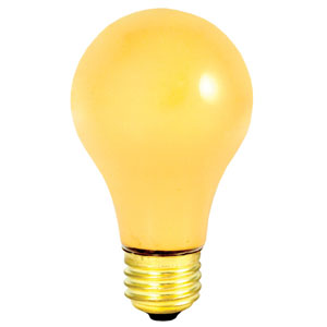 100W A19 E26 130V Yellow Bug Light