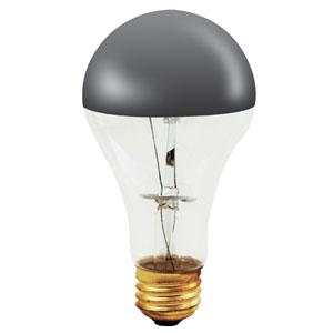 100W A21 E26 Half Chrome Bulb