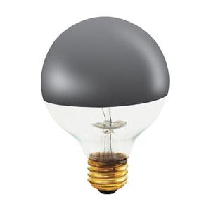 100W G25 E26 Half Chrome Bulb