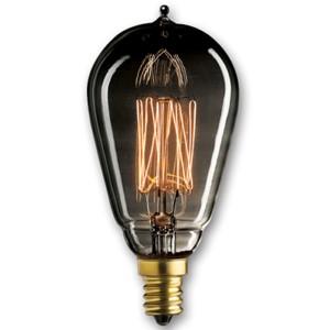 25W ST15 E12 Nostalgic Edison Thread Filament Smoke Bulb