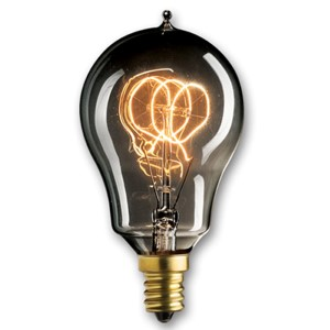 25W A15 E12 Nostalgic Edison Loop Filament Smoke Bulb