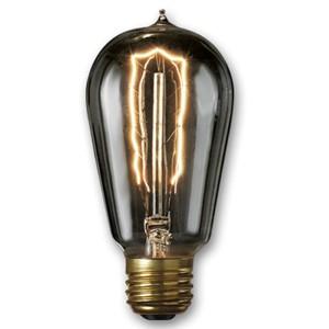 40W ST18 E26 Nostalgic Edison Hairpin Filament Smoke Bulb