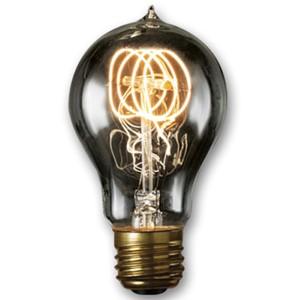 60W A19 E26 Nostalgic Edison Quad Loop Filament Smoke Bulb