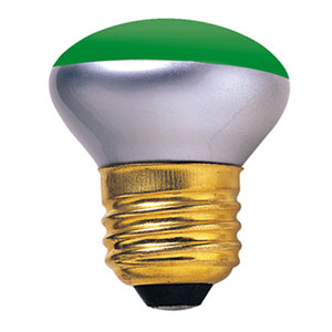 40W R14 E26 Incandescent Green Bulb