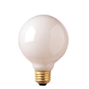 25W G25 E26 White Bulb