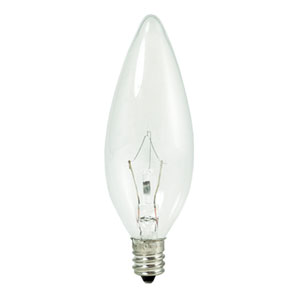 60W B10 E12 Krypton/Xenon Clear Bulb