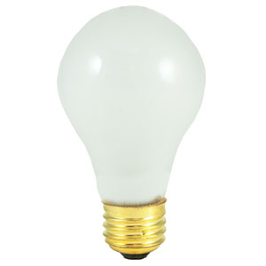 50W A19 E26 Frost Bulb, Pack of 2